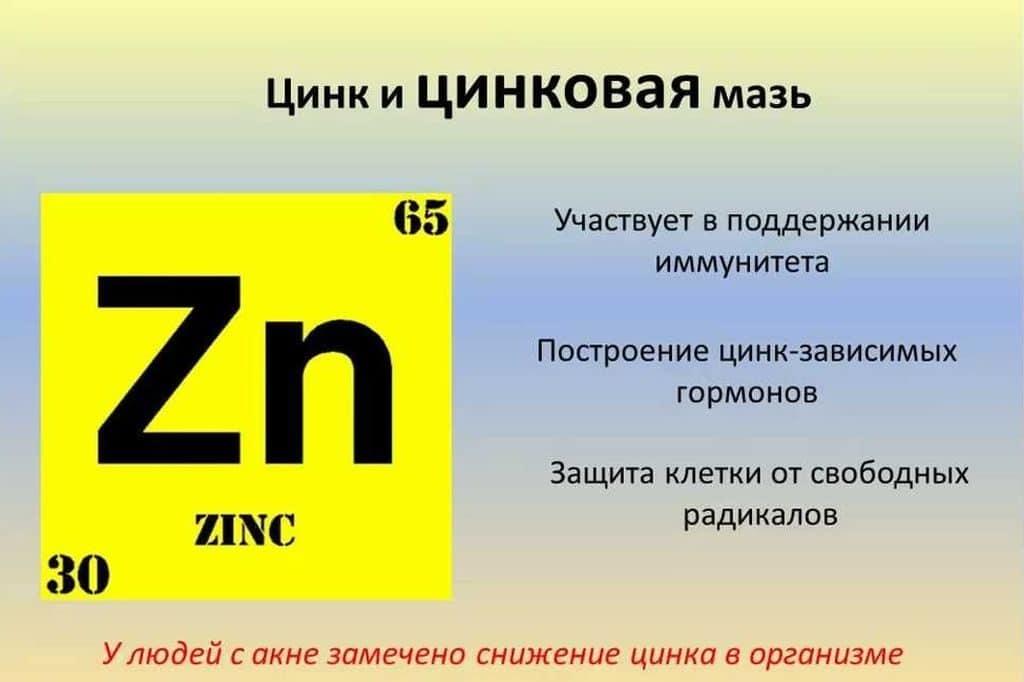Значение цинка и цинковой мази