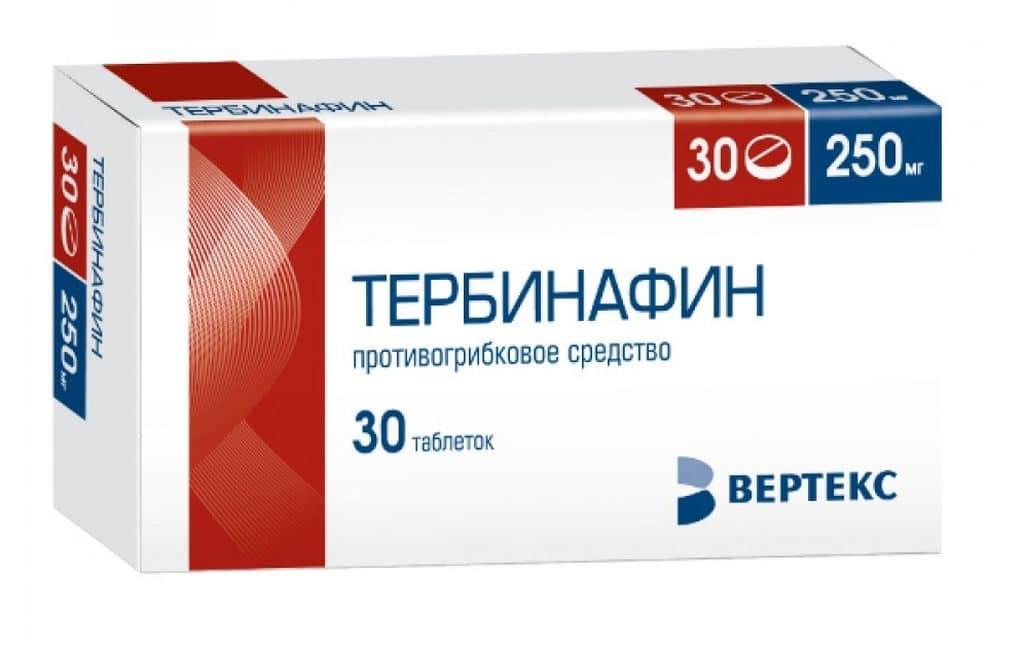 Таблетки Тербинафин от грибка ногтей