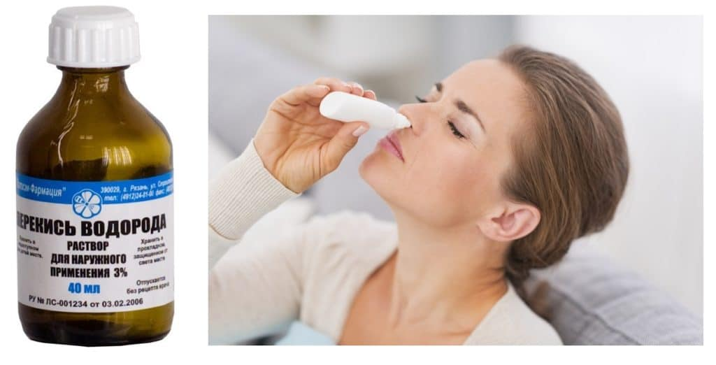 Промывание носа перекисью при псориазе