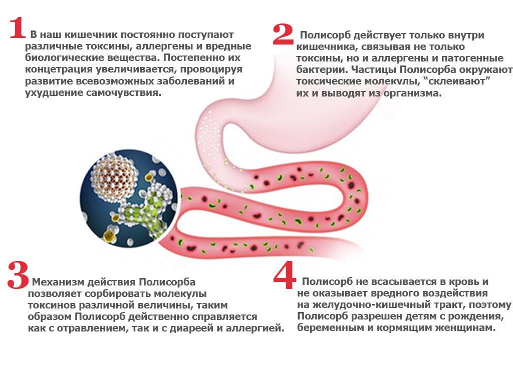 Полезные свойства Полисорба при псориазе