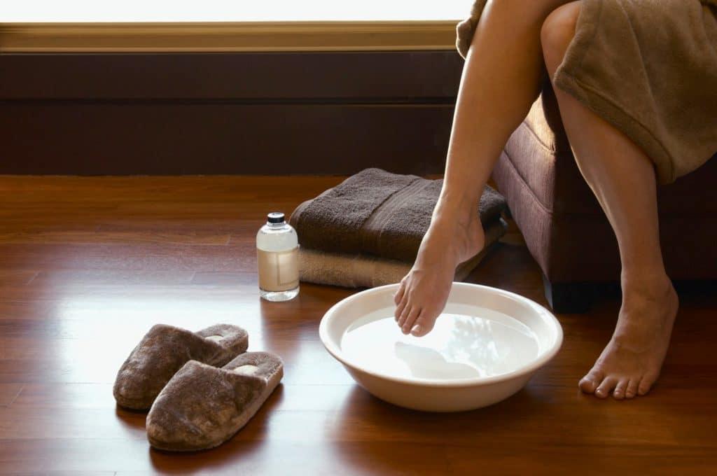 Ванночки с дегтярным мылом против грибка